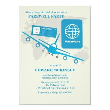 world travels farewell party invitation
